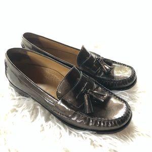 Cole Haan Sz 9.5 B Metallic Tassel Loafers Mocs